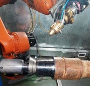 Laser hardening of drill pipe threads